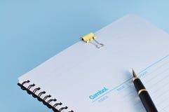 Cadernos e pena Fotografia de Stock Royalty Free