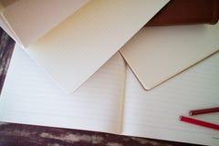 Cadernos vazios foto de stock