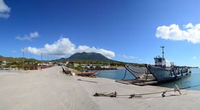 Cades Bay Nevis - Ocean / sea / beach /tropic. Cades Bay Nevis. nice flowing panoramic  on a quiet beach day Stock Images