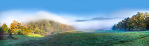 Fall in Cades Cove in the morning royalty free stock photography