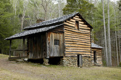 Cades Cove - Elijah Oliver House. In Smoky Mountains Stock Image