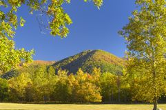 Cades Cove in Late October. Great Smoky Mountains National Park is famous for Cades Cove's exquisite beauty.  It is the most visited USA national park for that Royalty Free Stock Images