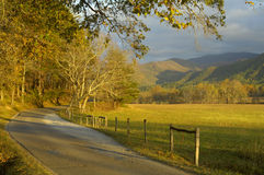 Cades Cove in Late October. Great Smoky Mountains National Park is famous for Cades Cove's exquisite beauty.  It is the most visited USA national park for that Royalty Free Stock Image