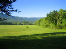 Cades Cove with Mountains Stock Photography