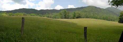 Cades cove panorama Stock Photos