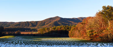 Cades Cove panoramic,autumn Royalty Free Stock Images