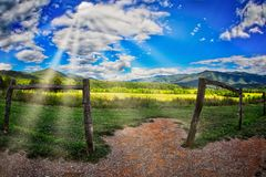 Cades Cove, Tennessee. Great Smoky MNountain NP view from  Cades Cove, Tennessee Stock Photos