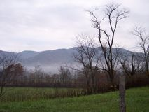 Cades Cove view. View of the Great Smoky Mountains within Cades Cove Tennessee USA Royalty Free Stock Photo