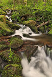 Cades Cove Waterfall. Long exposure of a waterfall in Cades Cove (Smoky Mountain National Park) in the spring Royalty Free Stock Photos