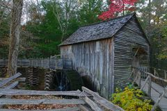 Cades Cove Waterwheel and Mill Royalty Free Stock Image