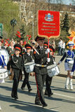 Cadet orchestra plays on Victory Day parade Stock Image