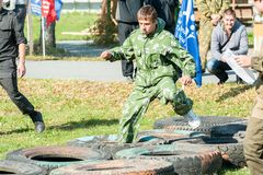 Cadet passes sports stage of relay Stock Images