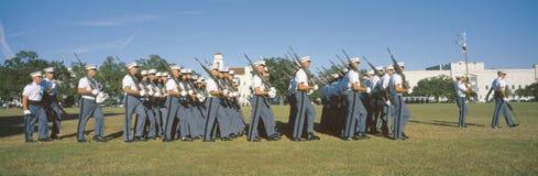 Cadet review,. The Citadel, Charleston, South Carolina Stock Photo