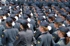 Cadetes en desfile foto de archivo