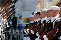 Cadetes en el desfile del día del St. Patrick de Nueva York Fotografía de archivo