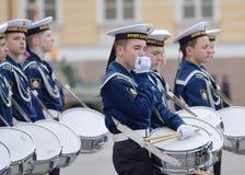Cadetes que ensayan para el desfile Fotografía de archivo libre de regalías