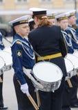 Cadetes que ensayan para el desfile Fotografía de archivo