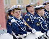 Cadetes que ensayan para el desfile Imagenes de archivo