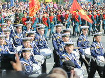 Cadets Cadet Marine Corps on the march. Stock Photography