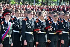 Cadets on cossack parade on April 21, 2012 in Kras Royalty Free Stock Images