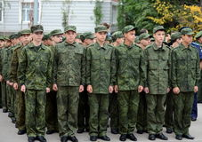 The cadets of the First Moscow cadet corps. Stock Photo
