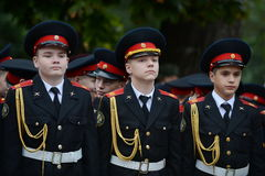 The cadets of the First Moscow cadet corps. Stock Photos