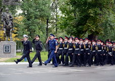 The cadets of the First Moscow cadet corps. Stock Images