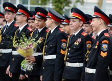 The cadets of the First Moscow cadet corps. Royalty Free Stock Photography