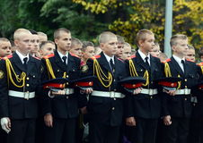 The cadets of the First Moscow cadet corps. Royalty Free Stock Image