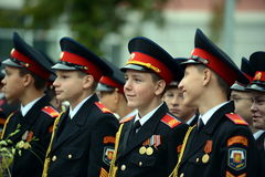 The cadets of the First Moscow cadet corps. Royalty Free Stock Images