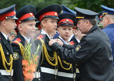 The cadets of the First Moscow cadet corps. Royalty Free Stock Photo