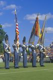 Cadets At Football Game Royalty Free Stock Image