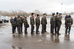 The cadets formed up on the parade Royalty Free Stock Image