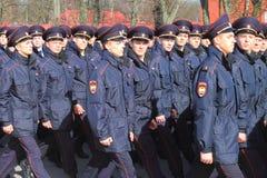 Cadets of the Kaliningrad legal university Royalty Free Stock Image