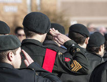 Cadets march Stock Photography