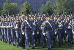 Cadets marchant dans la formation, académie militaire de West Point, West Point, New York photo stock
