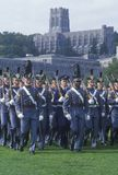 Cadets Marching in Formation Royalty Free Stock Images