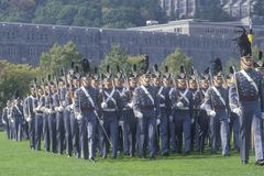 Cadets Marching in Formation, West Point Military Academy, West Point, New York Royalty Free Stock Images