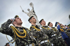 Cadets marks 70th anniversary of the end of World War II Royalty Free Stock Photos