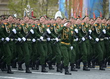 Cadets of the military Academy of logistics behalf of the army General A.V. khruleva on the parade dedicated to the Victory Day. Stock Photo