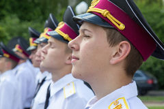 Cadets of the military lyceum Stock Photography