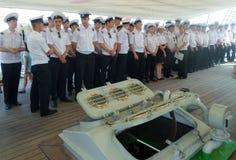Cadets On Mircea Training Ship Royalty Free Stock Photo