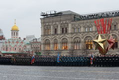 The cadets of the Moscow cadet corps on a parade dedicated to November 7, 1941 on Red Square in Moscow. Stock Image