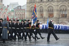 The cadets of the Moscow cadet corps on parade Royalty Free Stock Image