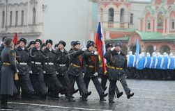 Cadets of the Moscow police College Royalty Free Stock Image