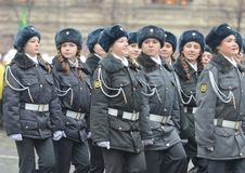 Cadets of the Moscow police College Stock Images