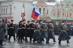 The cadets  of the Moscow Suvorov military school Stock Images