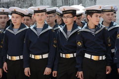 Cadets of Nakhimov college Stock Images