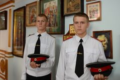 Cadets Novocherkassk Suvorov military school Royalty Free Stock Images