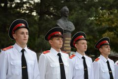 Cadets Novocherkassk Suvorov military school Stock Photography